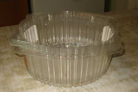 Прозрачные крышки из-под тортов для рассады